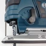 Foto von der SDS Werkzeugaufnahme und der Pendelhubeinstellung der Bosch GST 18 V-LI B Akku Stichsäge