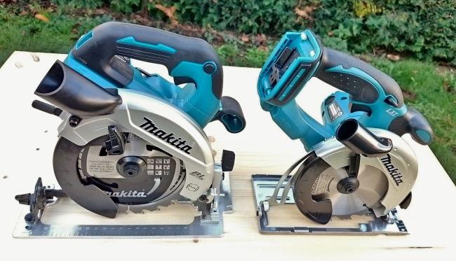 Ein Bildvergleich der Makita Akku Handkreissägen DHS660 und DSS501